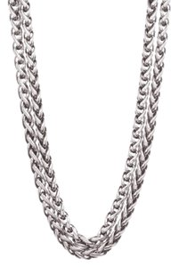 David Yurman David Yurman Silver & 14K Gold Double Wheat Chain Necklace
