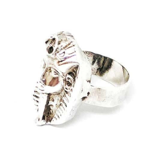 DeWitt's Beautiful Sterling Silver Egyptian Style Ring Image 4