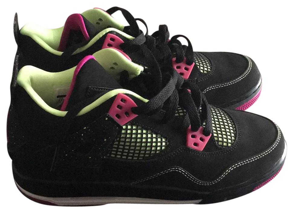 Air Jordan Black Fuschia Lime 30th and White 4 Retro 30th Lime Gg Sneakers 5fb0ee