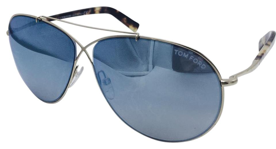 4a7b4344da54 Tom Ford Gold Eva Pilot Aviator Sunglasses Image 0 ...