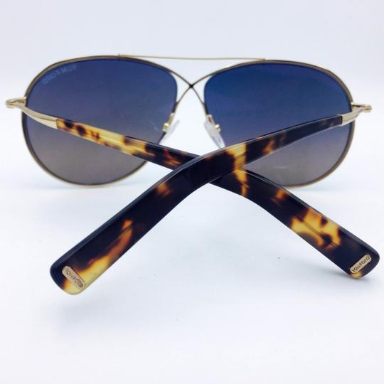 372ef653f7b1 Tom Ford Gold Eva Pilot Aviator Sunglasses - Tradesy