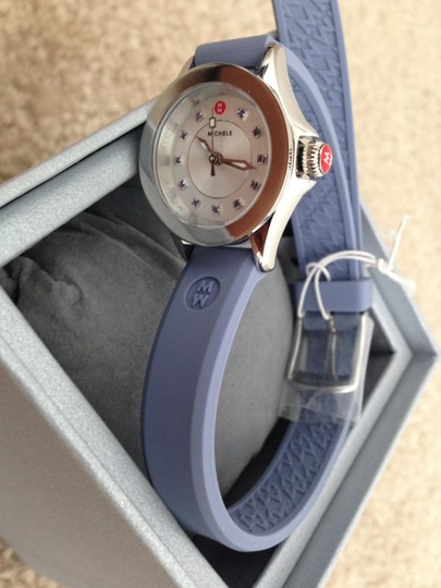 Michele Silver/Lavender jelly bean small case double wrap watch Image 1