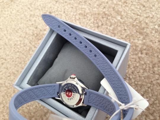 Michele Silver/Lavender jelly bean small case double wrap watch Image 3