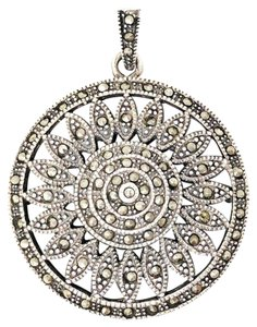 DeWitt's Gorgeous Vintage Pendant Sterling Silver with Marcasite