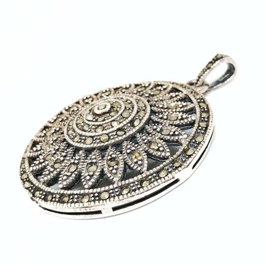 DeWitt's Gorgeous Vintage Pendant Sterling Silver with Marcasite Image 1