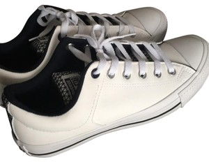 Converse All white with blue designs Athletic