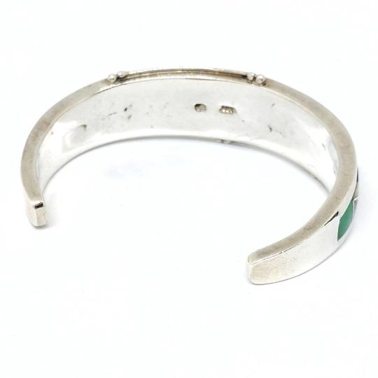 DeWitt's GL Designed Sterling Silver Cuff with inlaid Colored Stone Image 1