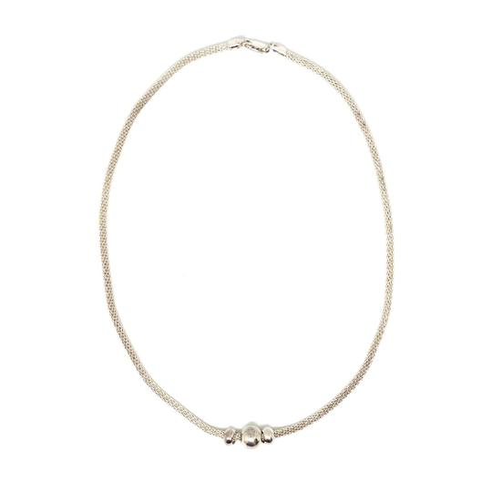 DeWitt's Classic Sterling Silver Mesh Necklace with Beads Image 1