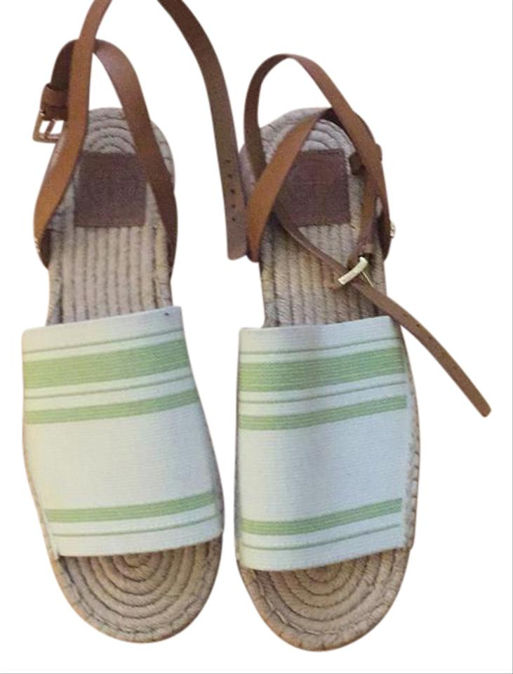 86cfaddd4c1 Tory Burch White Espadrilles New Never Worn Sandals Size US 10 ...