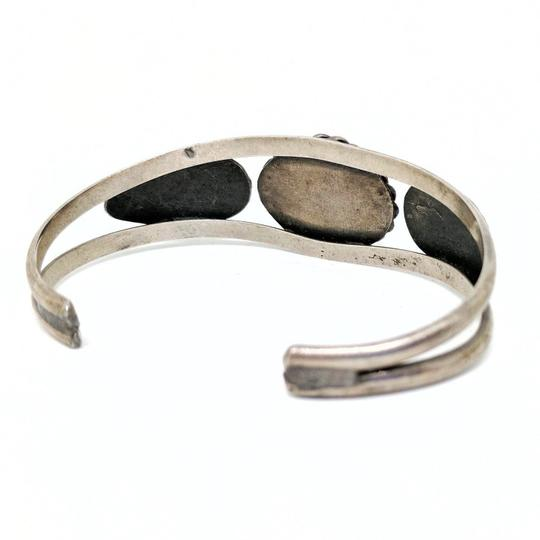 DeWitt's Gorgeous Vintage Sterling Silver Cuff Bracelet with a Turquoise Stone Image 2