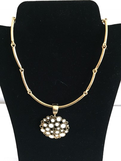 Preload https://img-static.tradesy.com/item/21343614/premier-designs-gold-and-white-and-enamel-floral-style-necklace-0-0-540-540.jpg
