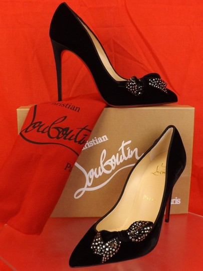 Preload https://img-static.tradesy.com/item/21343621/christian-louboutin-black-velvet-madame-menule-100-jeweled-bow-pumps-size-eu-375-approx-us-75-regula-0-2-540-540.jpg