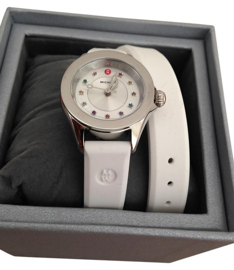 Preload https://img-static.tradesy.com/item/21343648/michele-silver-white-jelly-bean-small-case-double-wrap-watch-0-2-540-540.jpg
