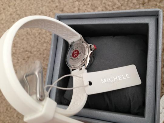 Michele Silver/White jelly bean small case double wrap watch Image 4