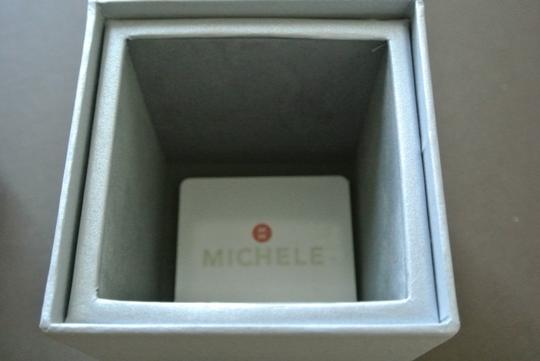 Michele Silver/White jelly bean small case double wrap watch Image 7