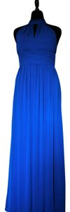 Watters & Watters Bridal Royal Blue Polyester Style # 4521 Formal Bridesmaid/Mob Dress Size 12 (L)