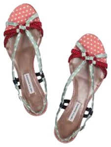 Tabitha Simmons Polka Dot Pastel Rope Multicolor Sandals