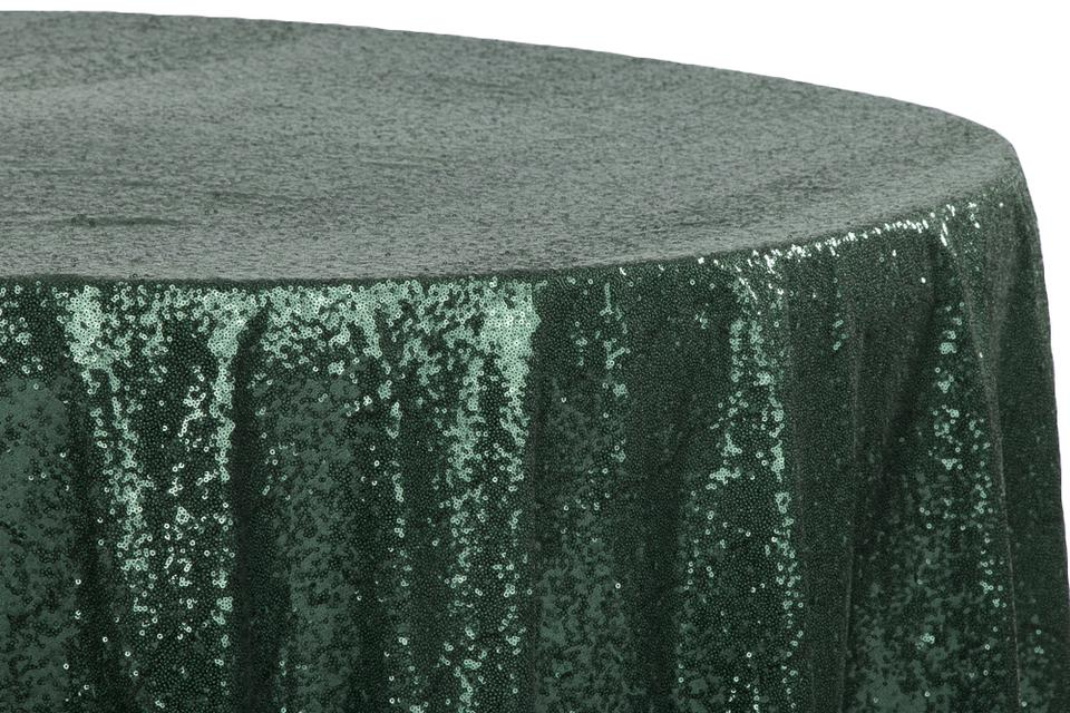 Marvelous Emerald Green Lot Of 10 Glitz Sequin 120 Round Tablecloth 52 Off Retail Evergreenethics Interior Chair Design Evergreenethicsorg