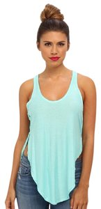 Free People Racer-back Shirt Top Blue