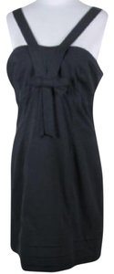 French Connection Lbd Bow V Neck Strappy Dress