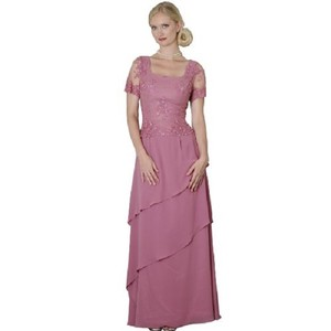 Sean Collection Rose Rose Chiffon - Mother Of Bride & Groom Dress.size 14 *nwt* Dress