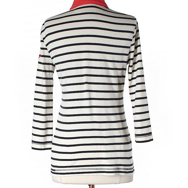 Tory Burch Striped Embellished Top Image 1
