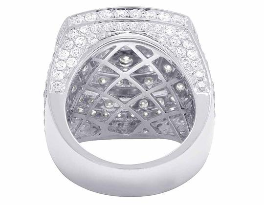 Jewelry Unlimited Men's 14K White Gold Genuine Diamond 3D Square Ring 8 4/5 CT 23MM Image 2