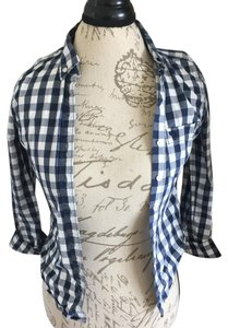 abercrombie kids Button Down Shirt Blue and White