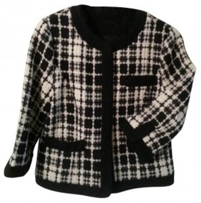 Preload https://item5.tradesy.com/images/ambition-black-and-white-tweed-crop-jacket-blazer-size-12-l-21344-0-0.jpg?width=400&height=650