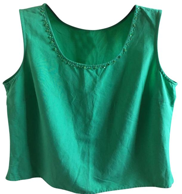 Item - Green 86348 Tank Top/Cami Size 16 (XL, Plus 0x)