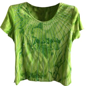 Multiples Top tie-dye green