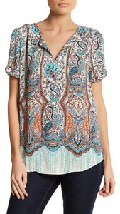 Daniel Rainn Work Beaded Top B290 INDIGO