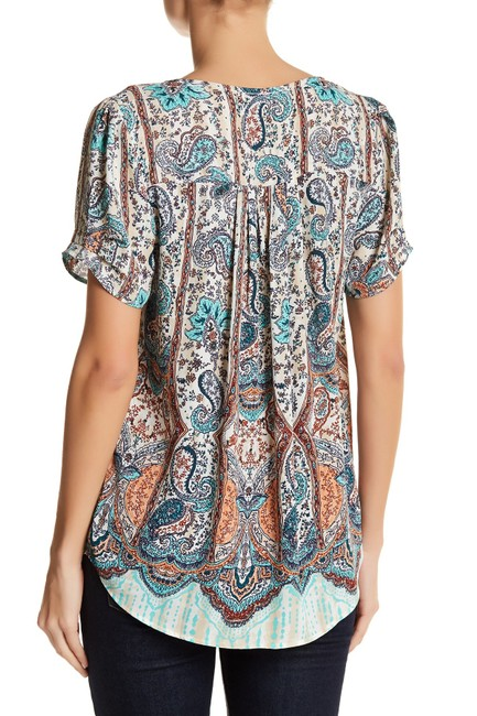 Daniel Rainn Work Beaded Top B290 INDIGO Image 1