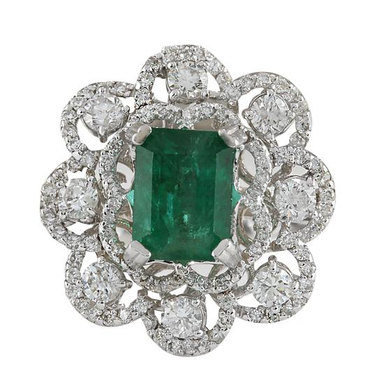 Preload https://img-static.tradesy.com/item/21344206/green-470-carat-natural-emerald-14k-white-gold-diamond-ring-0-0-540-540.jpg