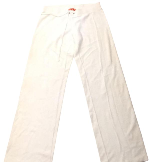 Item - White Velour Tracksuit Activewear Bottoms Size 4 (S)