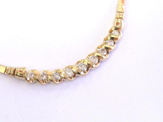 custom Fine Round Cut Diamond Yellow Gold Tension Setting Necklace 9-Stones 1 Image 3