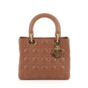 Dior Lambskin Tote in Brown