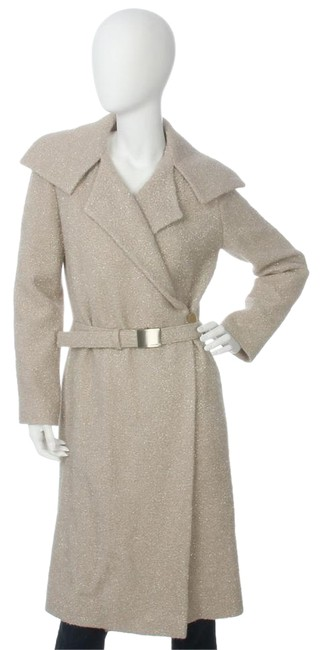 Preload https://img-static.tradesy.com/item/21344333/chanel-beige-long-shimmer-trench-coat-size-2-xs-0-1-650-650.jpg