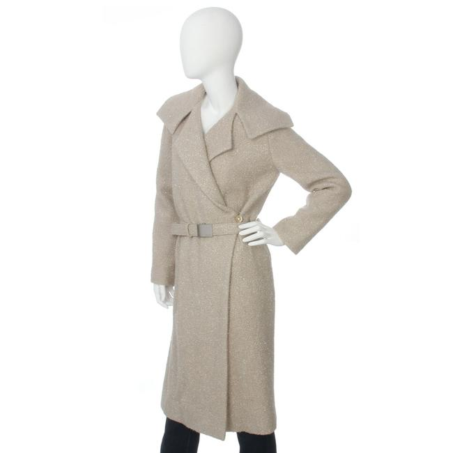 Chanel Ch.ej0429.04 Tan Belted Metallic 99a Trench Coat Image 1
