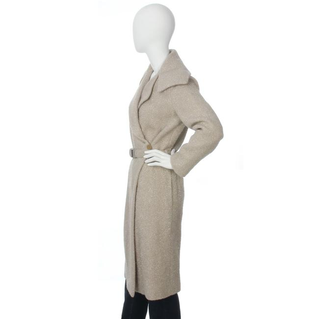 Chanel Ch.ej0429.04 Tan Belted Metallic 99a Trench Coat Image 2