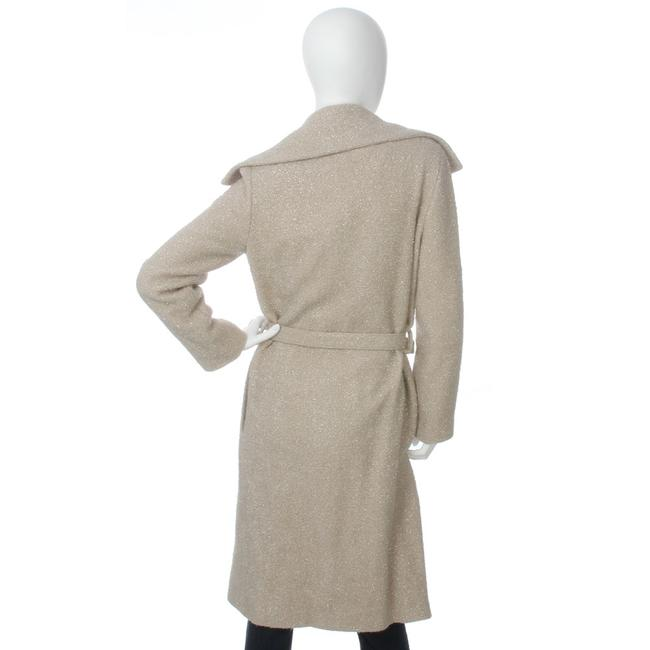Chanel Ch.ej0429.04 Tan Belted Metallic 99a Trench Coat Image 3