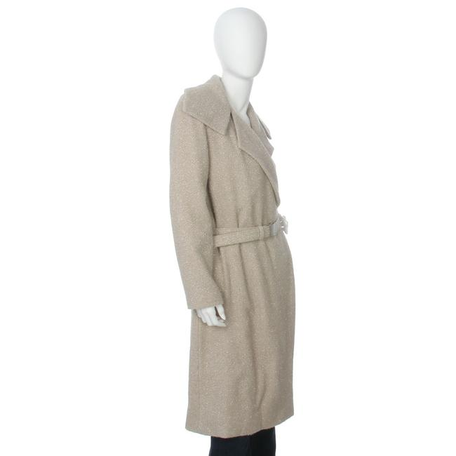 Chanel Ch.ej0429.04 Tan Belted Metallic 99a Trench Coat Image 4
