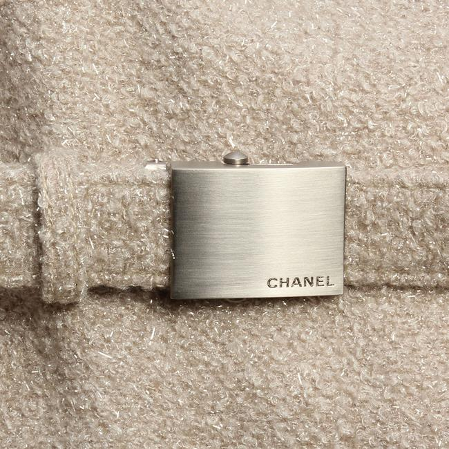 Chanel Ch.ej0429.04 Tan Belted Metallic 99a Trench Coat Image 6