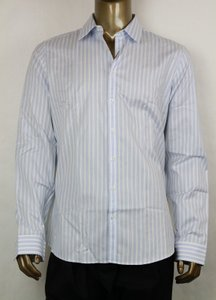 Gucci Blue/White Men's Slim Stripe Blue/White 44/17.5 307648 4971 Shirt