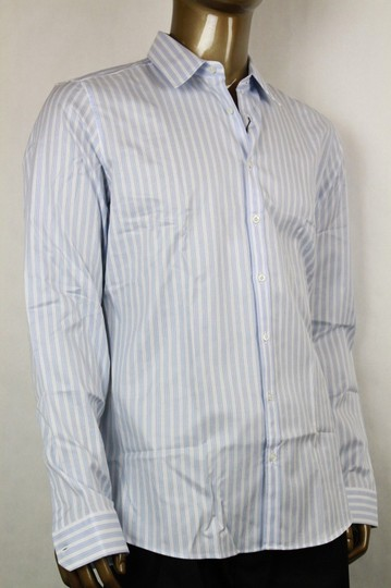 Gucci Blue/White Men's Slim Stripe Blue/White 44/17.5 307648 4971 Shirt Image 1