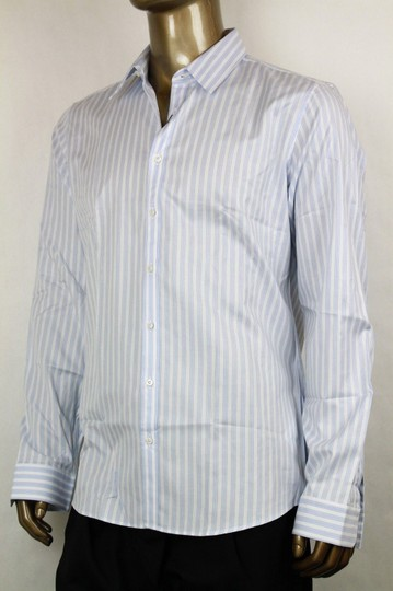 Gucci Blue/White Men's Slim Stripe Blue/White 44/17.5 307648 4971 Shirt Image 2