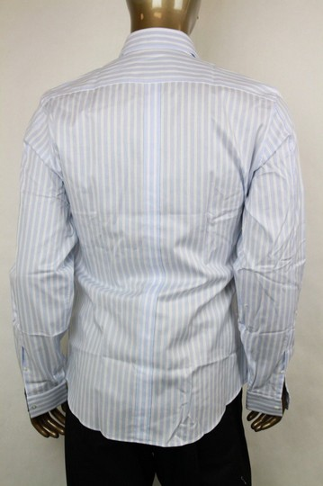 Gucci Blue/White Men's Slim Stripe Blue/White 44/17.5 307648 4971 Shirt Image 3