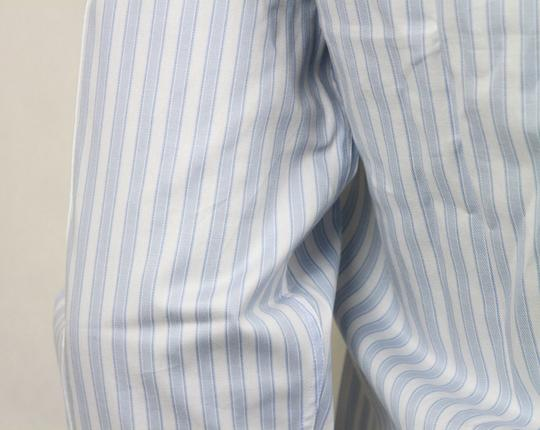 Gucci Blue/White Men's Slim Stripe Blue/White 44/17.5 307648 4971 Shirt Image 4
