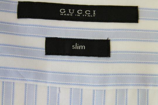 Gucci Blue/White Men's Slim Stripe Blue/White 44/17.5 307648 4971 Shirt Image 5