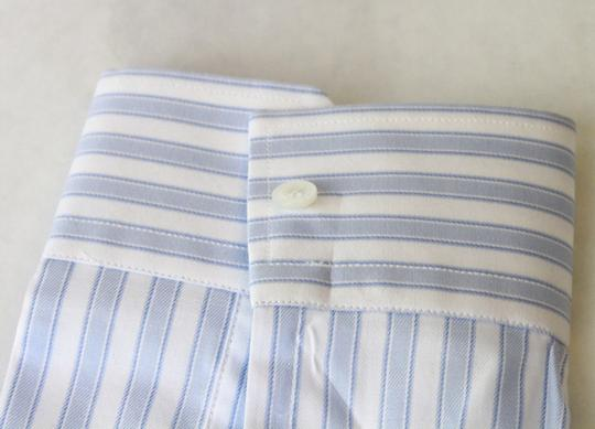 Gucci Blue/White Men's Slim Stripe Blue/White 44/17.5 307648 4971 Shirt Image 6